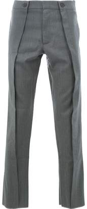 Delada front pleat straight trousers
