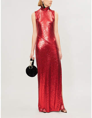 Galvan Galaxy sequinned maxi dress