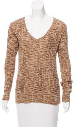 Anna Sui V-Neck Cable Knit Sweater