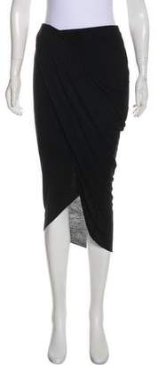 Helmut Lang Asymmetrical Draped Maxi Skirt
