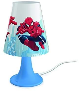 Philips Marvel Spiderman Children's Bedside LED Table Lamp - Blue