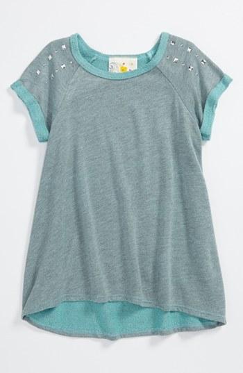 Jenna & Jessie Fleece Top (Little Girls) Turquoise 4