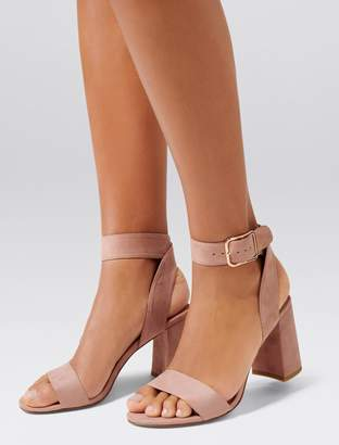 Forever New Sabrina Mid Block Heels - Dusty Blush - 36