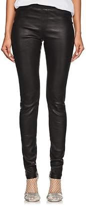 Helmut Lang Women's Stretch-Leather Leggings