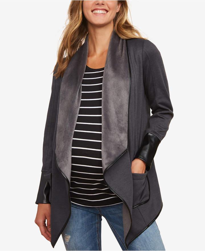 Motherhood Maternity Draped Jacket