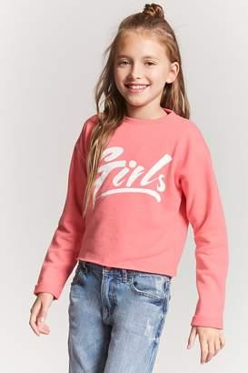 Forever 21 Girls French Terry Sweatshirt (Kids)