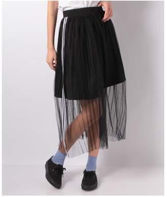 WEGO (ウィゴー) - WEGO チュールラインプリーツロングスカート