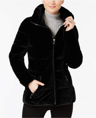 INC International Concepts I.n.c. Velvet Puffer Coat