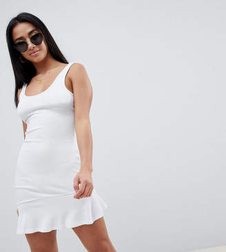 Asos Mini Tank Dress with Scoop Back and Asymmetric Frill Hem