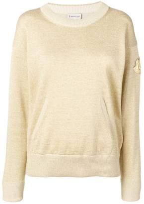 Moncler metallic patch sweatshirt