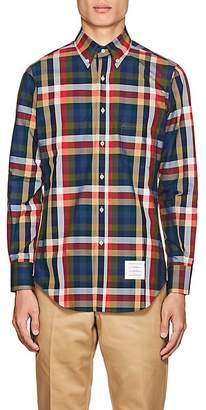 Thom Browne Men's Checked Cotton Button-Down Shirt
