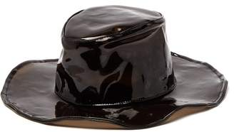 Lafayette House Of Marco 3 Pvc Fedora Hat - Womens - Black