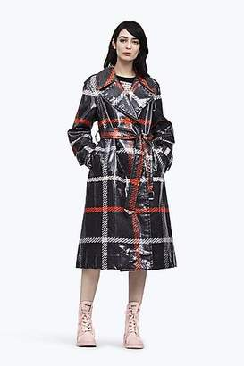 CONTEMPORARY Plaid Belted Trench