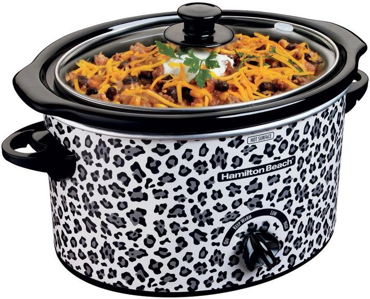 Hamilton Beach 3 qt. Slow Cooker with Cheetah Pattern Design