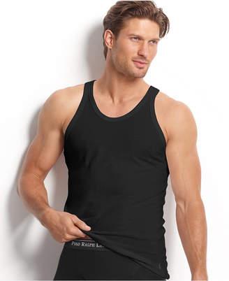 Polo Ralph Lauren Men's Underwear, Slim-Fit Cotton Jersey Tank 3 Pack