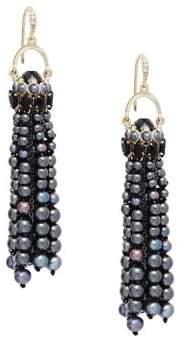 Carolee 3mm-6mm Black Pearl Drop Earrings