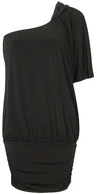 Silky One Shoulder Dolman Sleeve Top
