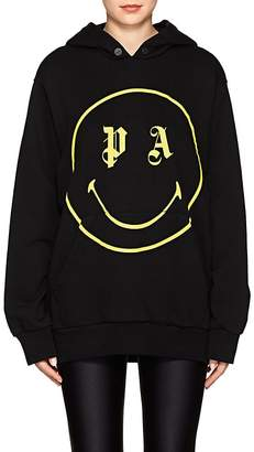 Palm Angels Women's Smiley-Face Cotton Terry Hoodie