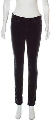 Rag & Bone Mid-Rise Corduroy Skinny Pants