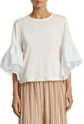 See by Chloe Bell Sleeve Cotton Tee