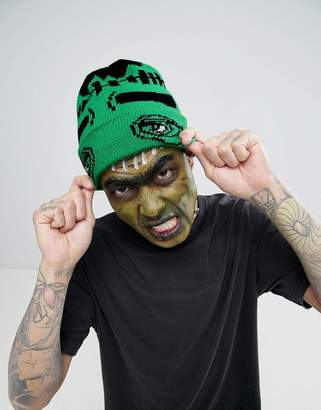 Asos Halloween Beanie With Monster Design