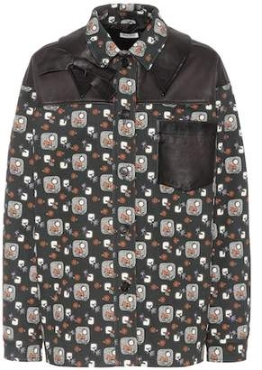 Miu Miu Printed cotton jacket