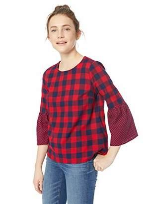 J.Crew Mercantile Women's Flannel Peplum Top