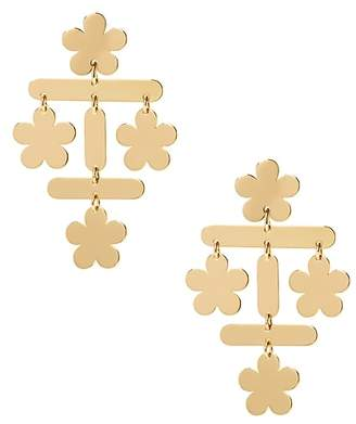 Banana Republic Golden Flower Statement Earring