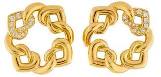 Bvlgari Diamond Doppio Cuore Earrings