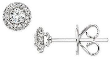 1/4 Carat Diamond 14K White Gold Earrings
