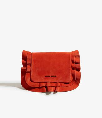 Karen Millen Frill Suede Clutch Bag