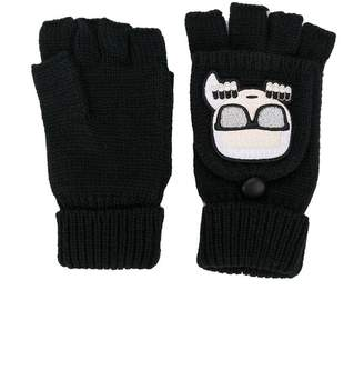 Karl Lagerfeld (カール ラガーフェルド) - Karl Lagerfeld Ikonik mitten gloves
