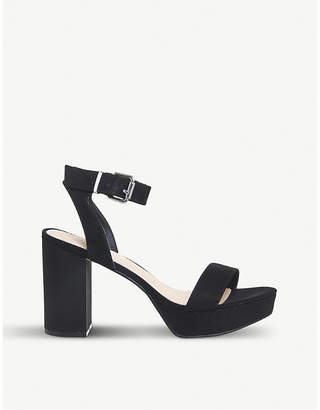 Office Mossy suedette heeled sandals