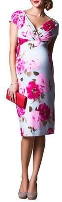 Tiffany & Co. Rose Maternity Floral-Print Cap-Sleeve Shift Dress