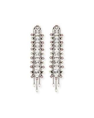 Dannijo Almendra Elongated Crystal Drop Earrings