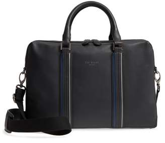 Ted Baker Walave Leather Document Briefcase