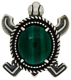 American West Sterling Silver Malachite Turtle Enhancer by American West