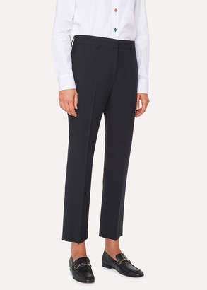 Paul Smith A Suit To Travel In - Women's Slim-Fit Navy Wool Pants