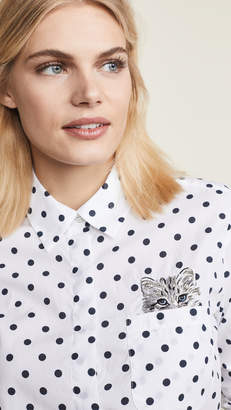 Paul & Joe Sister Lilii Cat Button Down