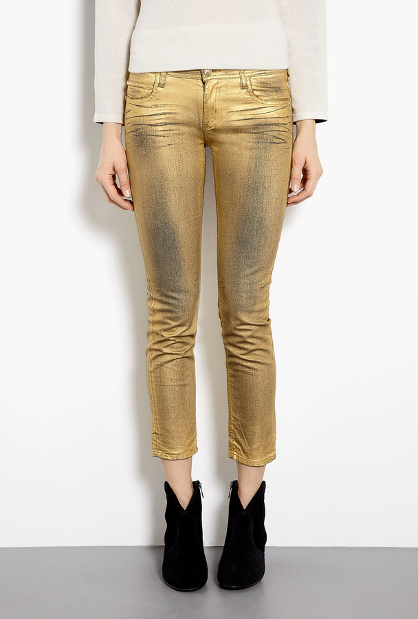 Faith Connexion Milar Washed Gold Skinny Jeans