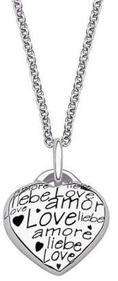 ONLINE Sterling Silver Language of Love Heart Necklace