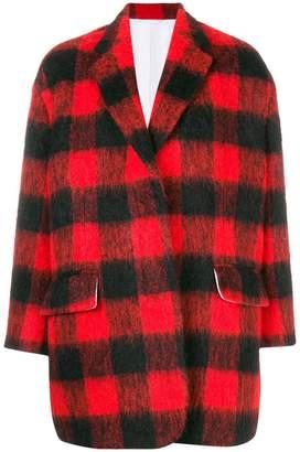 Calvin Klein oversized plaid jacket