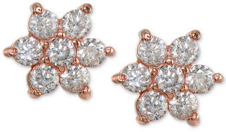 Giani Bernini Cubic Zirconia Flower Stud Earrings in 18k Gold-Plated Sterling Silver, Created for Macy's