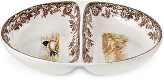 Spode Woodland Pheasant/Mallard Divided Dish
