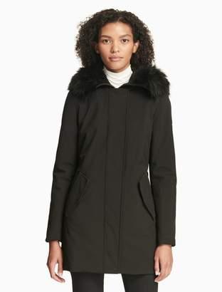 Calvin Klein soft shell faux fur jacket