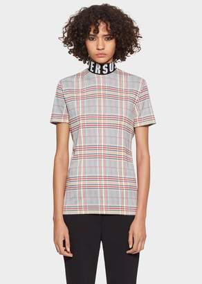 Versace Tartan Versus Logo T-Shirt