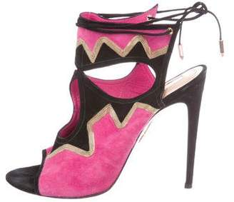 Aquazzura Suede High-Heel Sandals