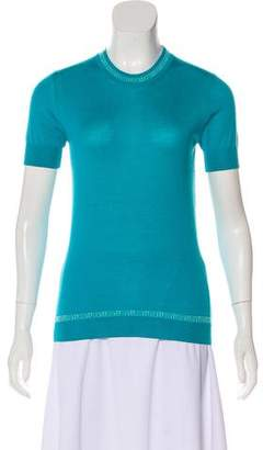 Versace Cashmere Short Sleeve Top