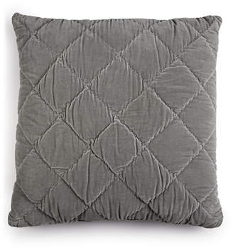 "Martha Stewart Collection Whim By Collection Quilted Velvet 26"" Square Decorative Pillow, Created for Macy's Bedding"