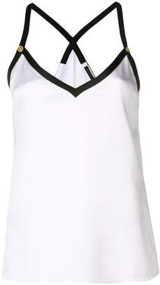 Versace button-embellished camisole